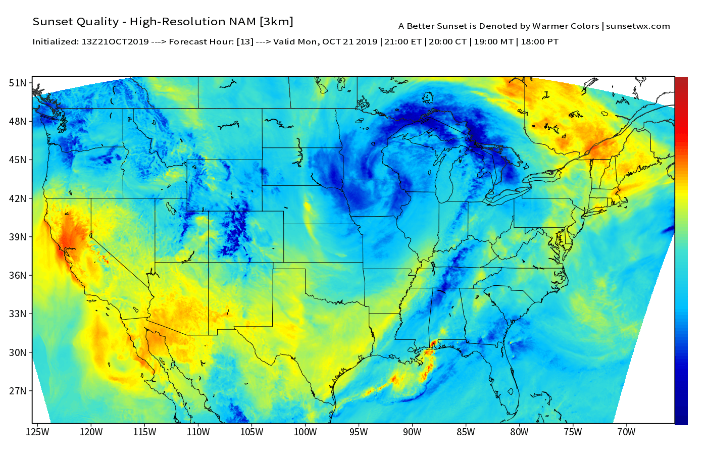 Example of SunsetWx prediction