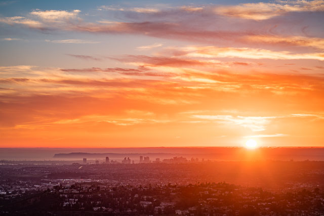 - Sunset from Mount Helix