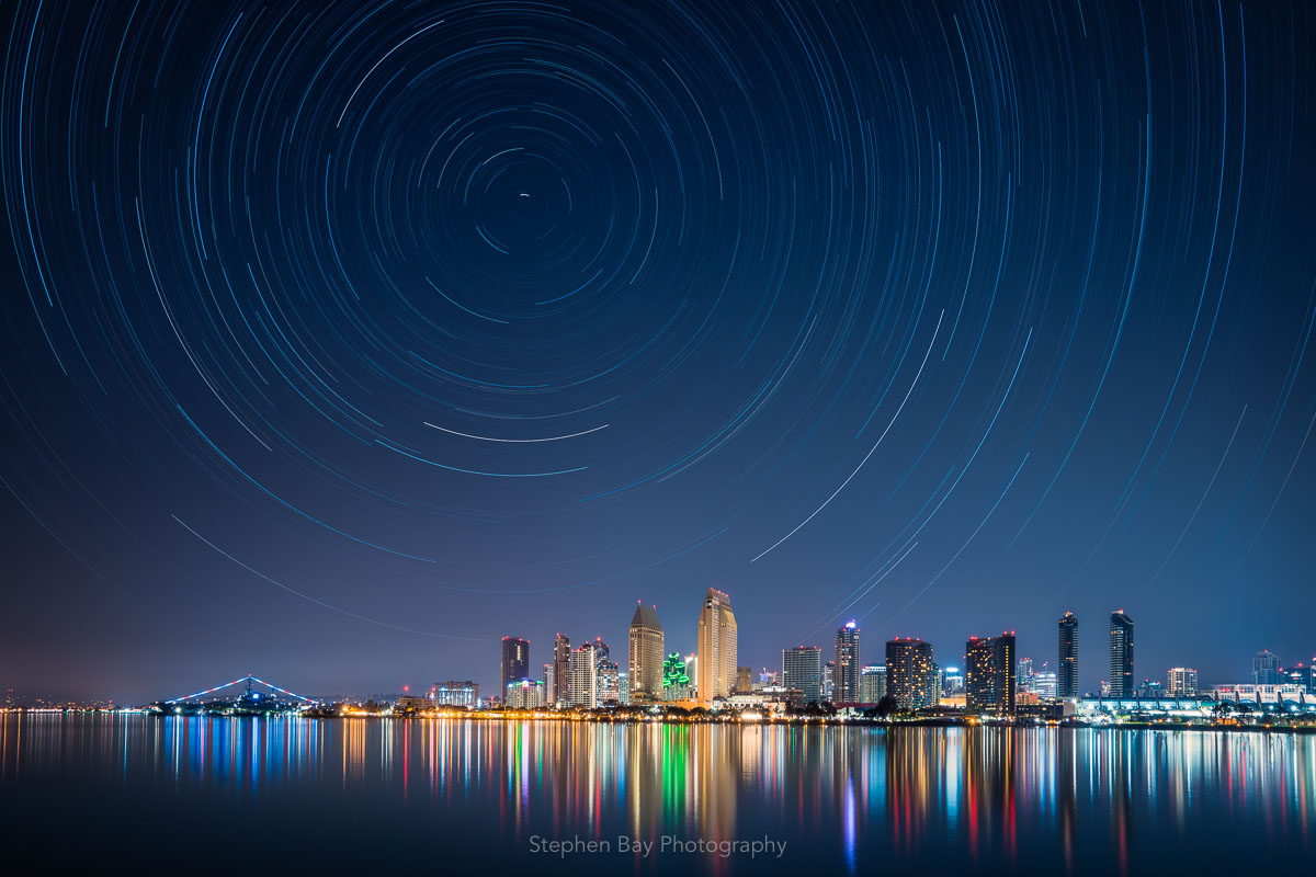 Star Trails over Downtown