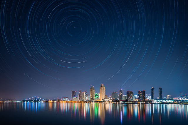 - Star Trails over Downtown