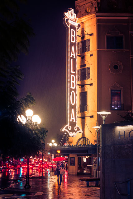 It Finally Rained - Balboa Theatre, Gaslamp Quarter