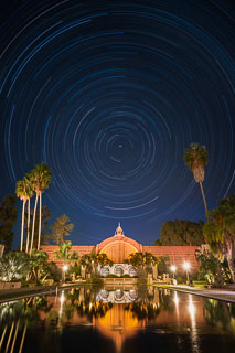 Star Trails over the Botanical Building, Balboa Park