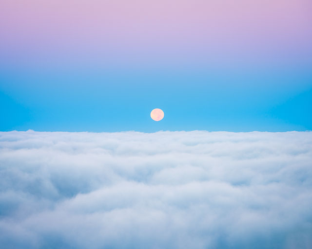 Cloud Wanderer - Moonset over San Diego