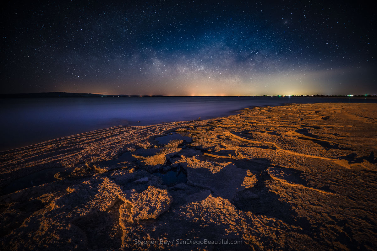 Milky Way Rising, Salton Sea