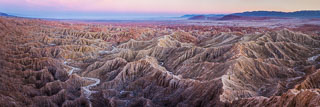 Twilight at Font's Point and the Borrego Badlands