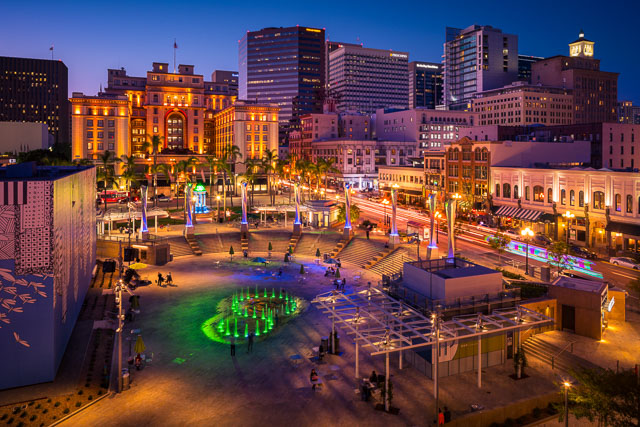 As Night Falls - Horton Plaza Park