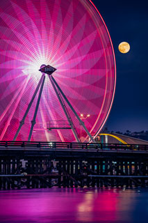 Strawberry Full Moon at the San Diego Fair