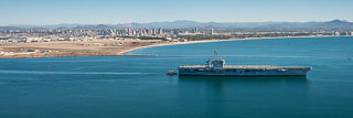 USS Theodore Roosevelt Leaving San Diego Bay